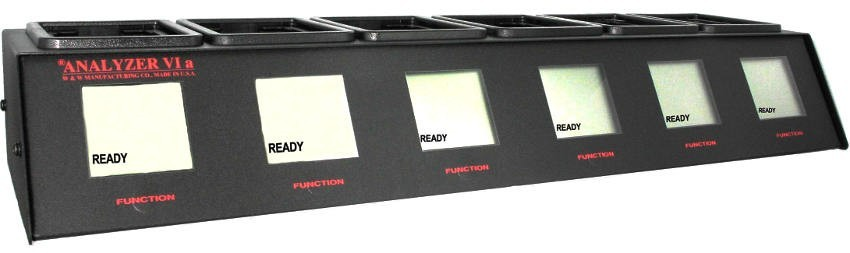 Analyzer VIa, 6 Bank (Bay) BK Battery Analyzer/Conditioner for BK Relm Radios