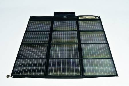 CHSO9R20 20 Watt Foldable Solar Panel with Female Cigarette Lighter Plug for RDPR Solar Charging