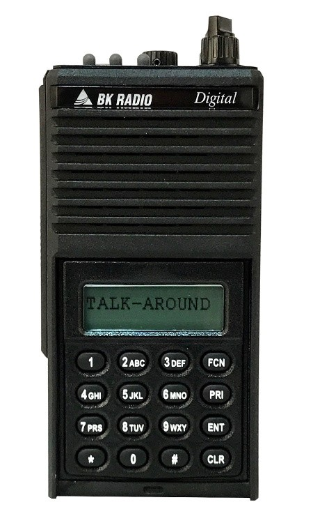 DPH5102X-CMD Bendix King Digital Portable Radio - Command Version. P25 APCO, 500 Channels, 5 Watt, VHF 136-174 MHZ, Metal Case, Front View