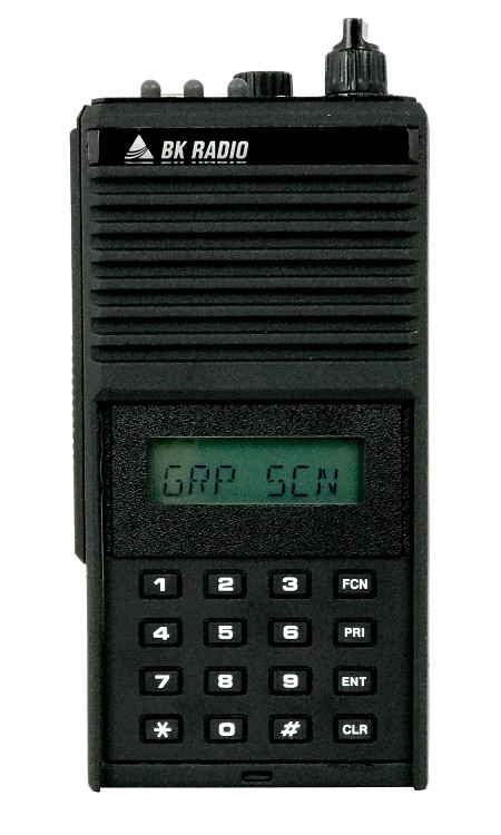 GPH5102XP Bendix King Analog Portable Radio. 400 Channels, 5 Watt, VHF 136-174 MHZ, Metal Case, Front View