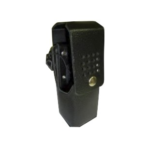KAA0415 Front View, Leather Holster - Belt Loop for RELM BK Radio KNG