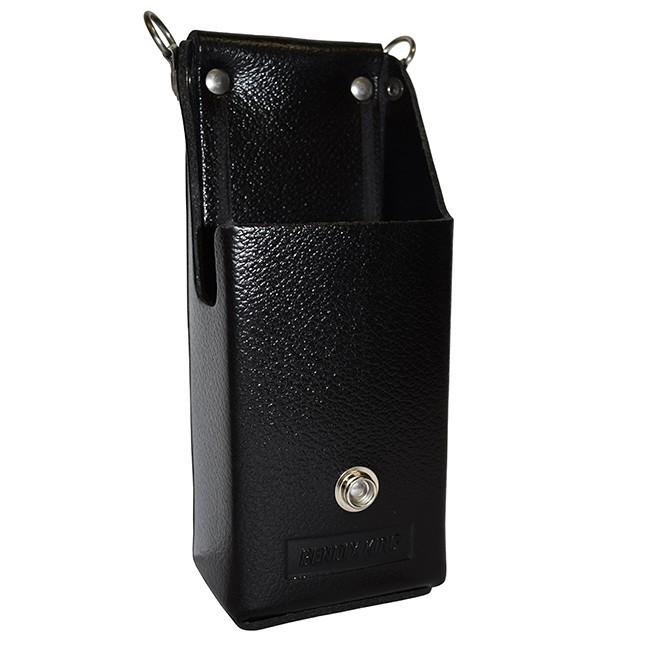 LAA0430 Short Battery Leather Holster D-Swivel Clip, Use with Short Stack Batteries for RELM BK Radio DPH, GPH
