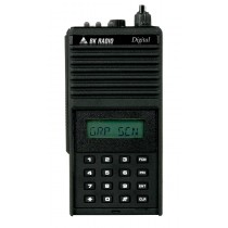 DPHX5102X Bendix King Digital Portable Radio. P25 APCO, 400 Channels, 5 Watt, VHF 136-174 MHZ, Metal Case, Front View