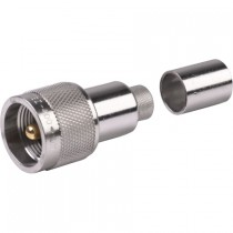 EZ400UM Clamp-On Male PL259 Connector for LMR400 Coax