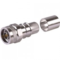 EZ600NMH Crimp-On Male Hex Head N Connector for LMR600 Coax