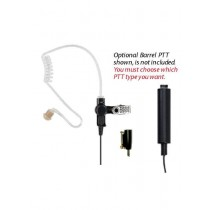 KAA0226 3-Wire Surveillance Mic with Acoustic Tube Ear Piece for RELM BK Radio KNG P Series