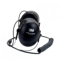 Behind-the-Head Dual Muff Headset with Mic and PTT button for Bendix King KNG Portable Radios