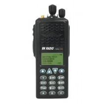 KNG-P150CMD Command Version, Digital APCO P25, VHF 136-174 MHZ, 5000 Channels, 6 Watt, Full Keypad - RELM BK Portable Radio, Front View