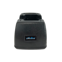 Desktop Charger, CHKNGDT9R1B - Rapid Rate, Quad-Chemistry, BLACK, Equivalent to KAA0300P for RELM BK Radio KNG, Front View