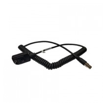 BTH Dual Muff Headset Coiled Cord, PADPHDMMMCA - for RELM BK Radio DPH, GPH