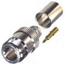 RFN1028-SI RF Industries Connector - N Female, Crimp On, for LMR400