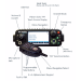 BK Radio KNG-M Series Digital Mobile Radios - Dash Mount, 5000 Channels, 50 Watt, P25, Head view Diagram