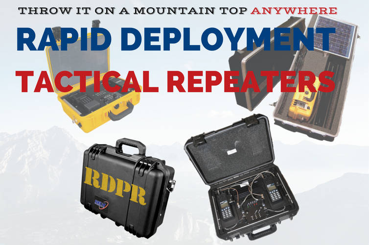 Bendix King Rapid Deployment Portable Repeater (RDPR) it works when nothing else will